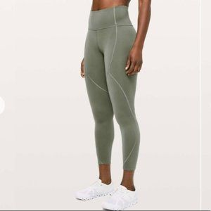 Lululemon To The Beat Tight Grey Sage legging 10